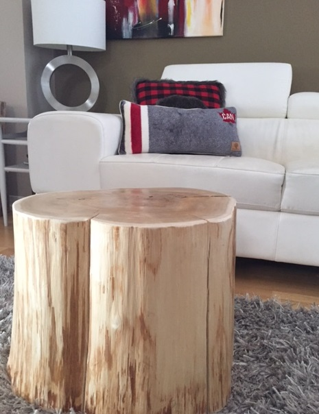 Serenity Cutting Boards Stump Side Tables