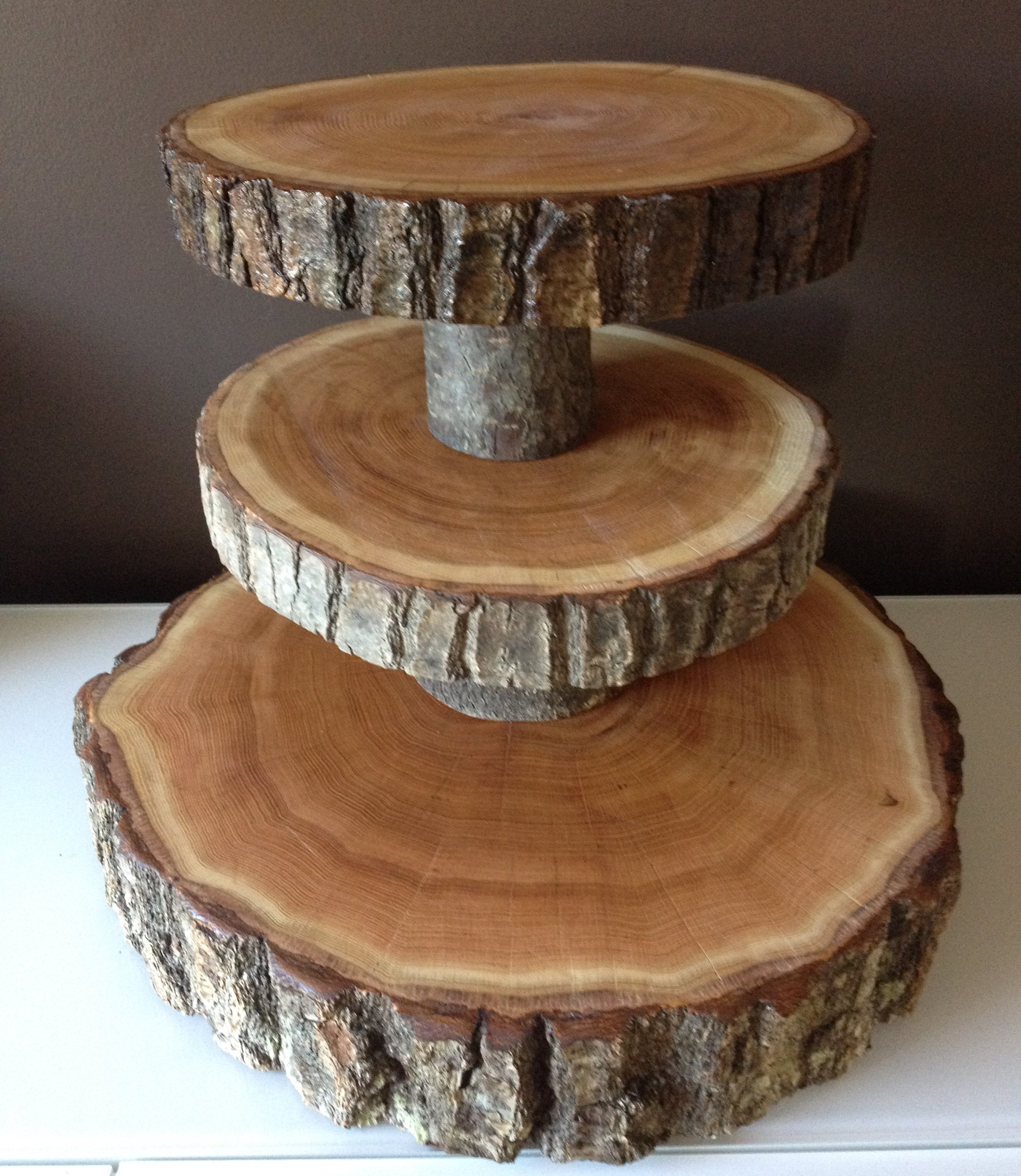 Wedding Cake Stands u0026 Cupcake Stands & Wood Slice Wedding Cake Stands Wood RoundsStump Cake Stand