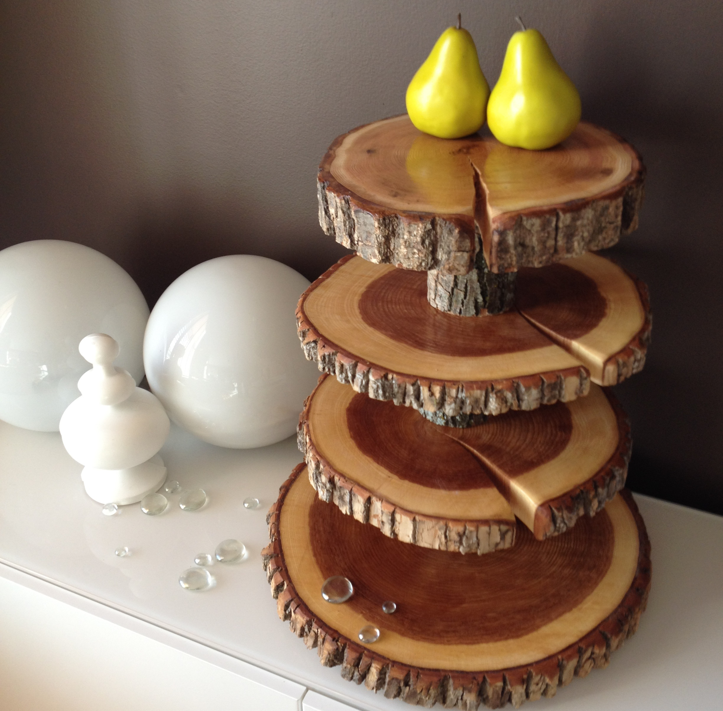 Wood Slice Wedding Cake Stands Rounds Stump Stand & Tiered Wooden Cake Stand - Wooden Designs