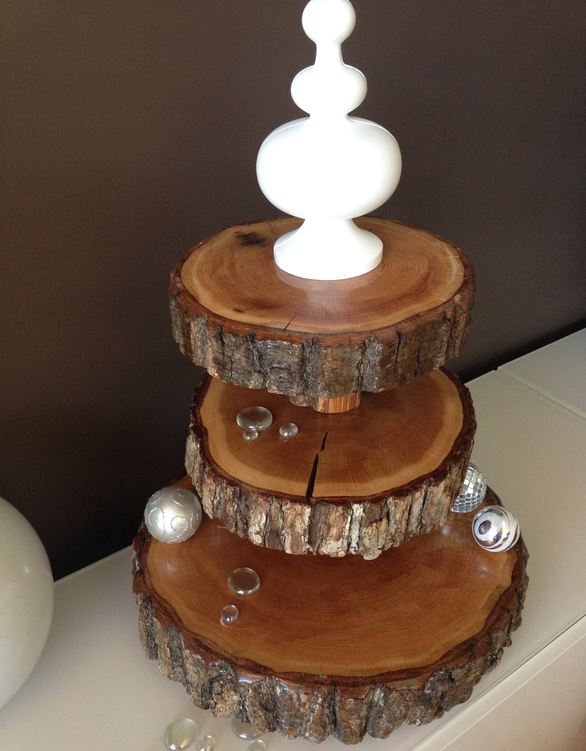 used wedding cake stand wood slice wedding cake stands wood rounds stump cake stand 21509
